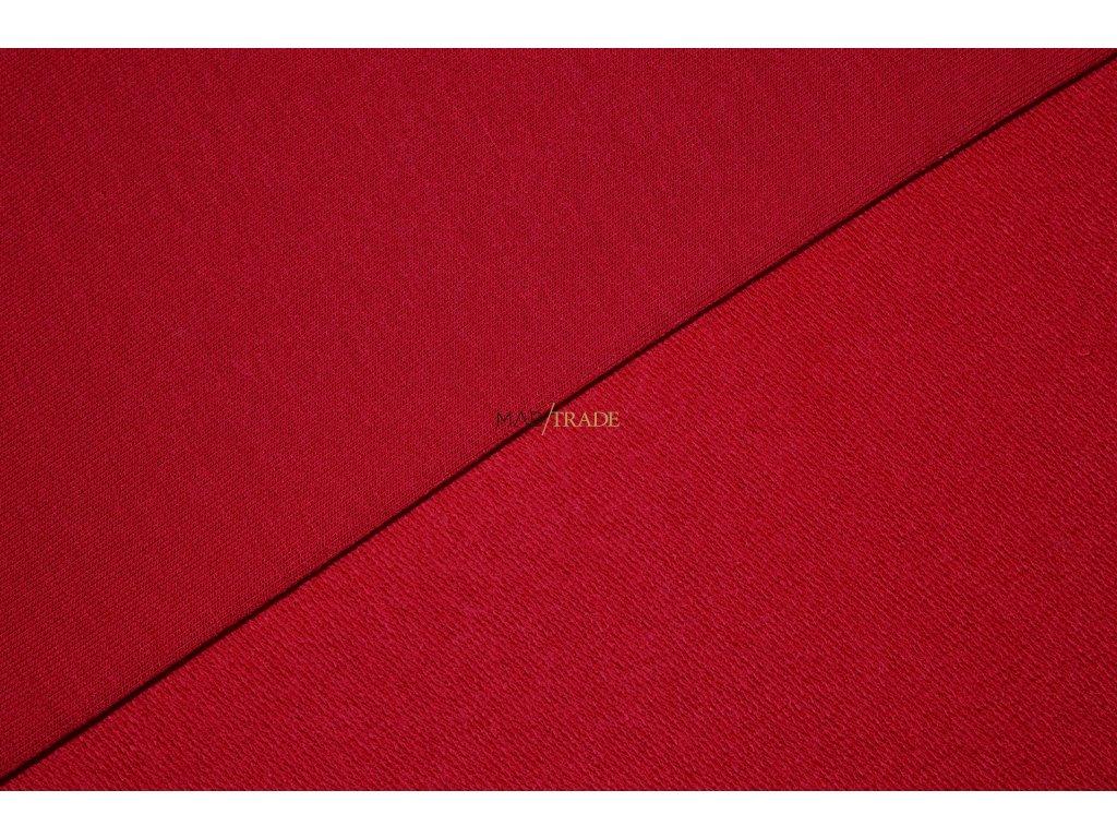 Elastická  teplákovina Viskózová  nepočesaná Červená Kód 4229-1103