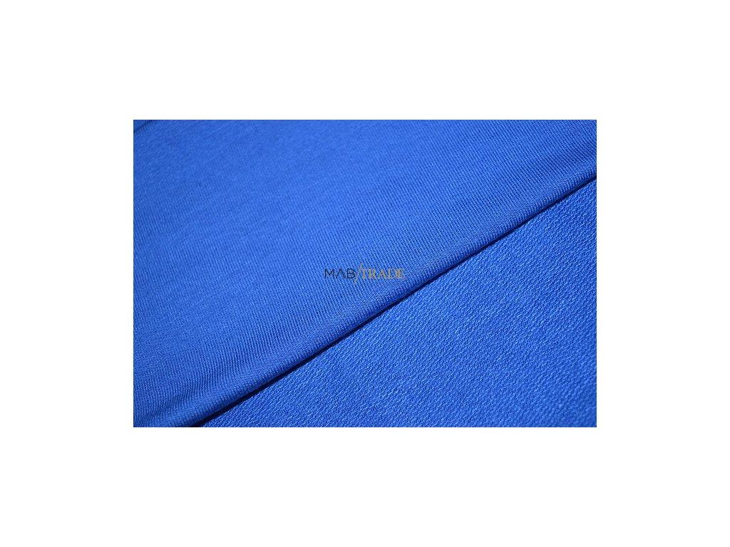 TEPLÁKOVINA Viskózová nepočesaná s elastanem královsky Modrá Kód 4229-1902