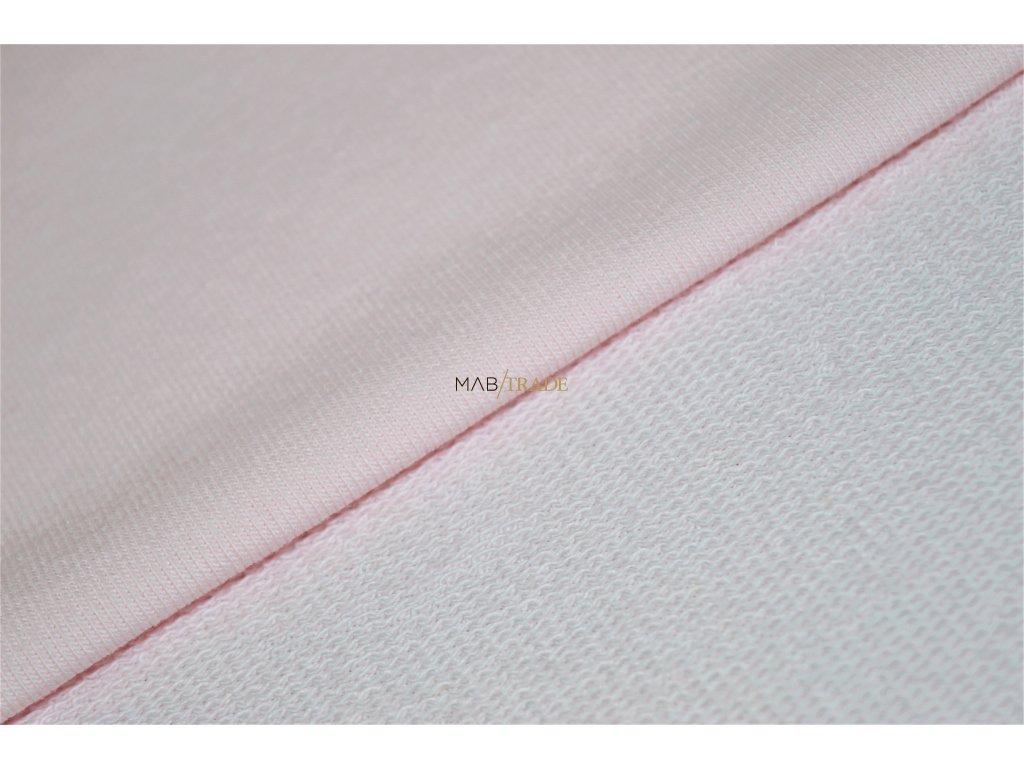 Jemně elastická teplákovina  100 % Ba světle Růžová Kód 4213-0901/C