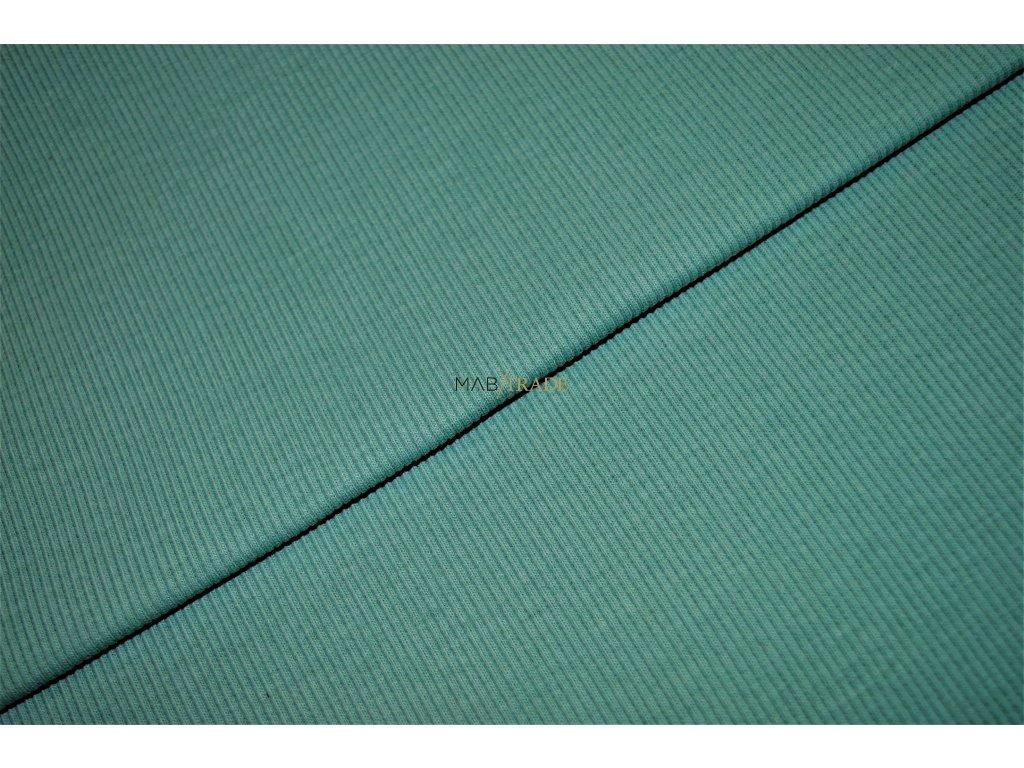 Bavlněný úplet - RIB 2x1 hrubý pastel Zelený Kód 6222-1049