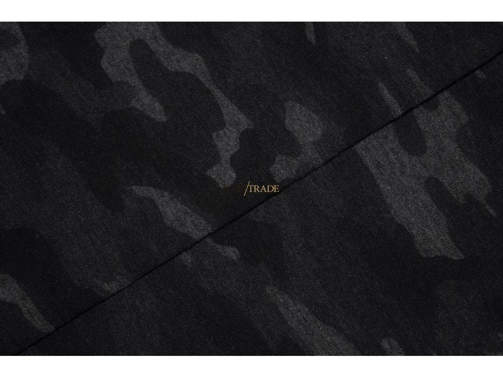Elastická teplákovina tisk Army tm. Šedý melír Kód 4840-2065
