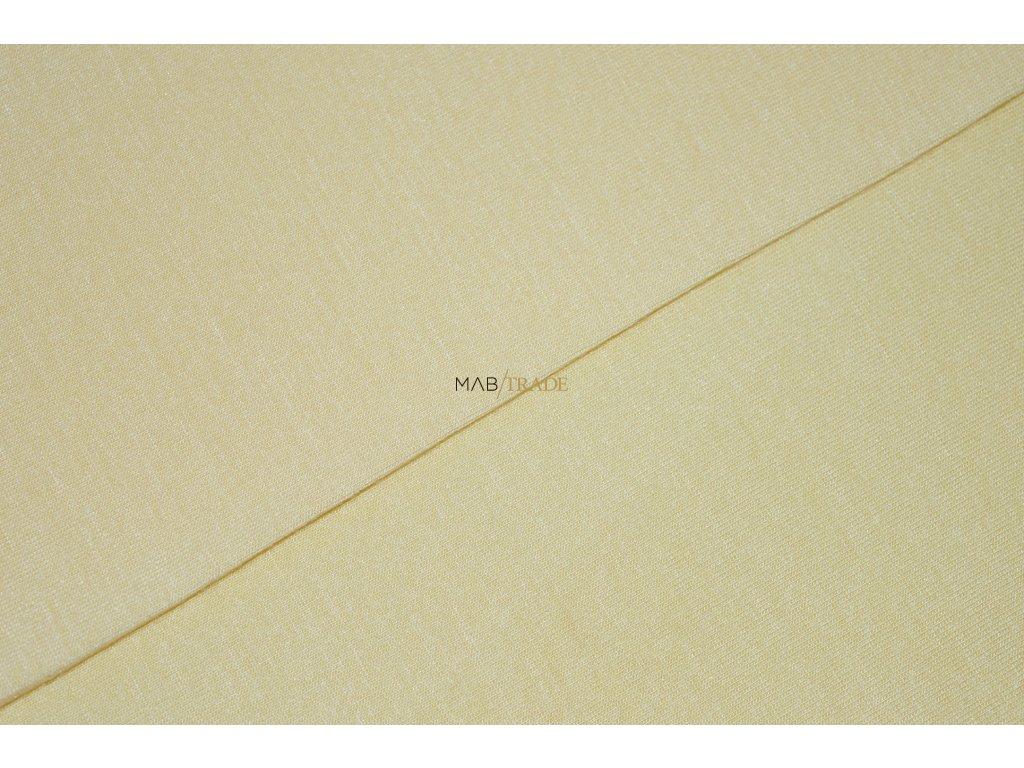 Bavlněný úplet - elastický jednolícní MICRO MODAL Vanilka Kód 2562-0104