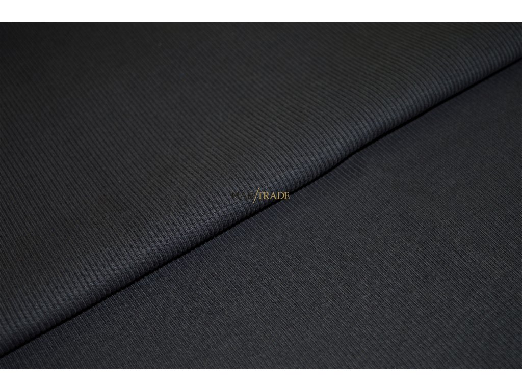 Bavlněný úplet - RIB 2x1 hrubý tm. Šedý Kód 6222-3002