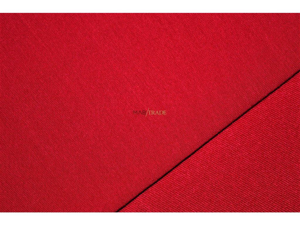 TEPLÁKOVINA Viskózová nepočesaná s elastanem Červená Kód 4229-1103