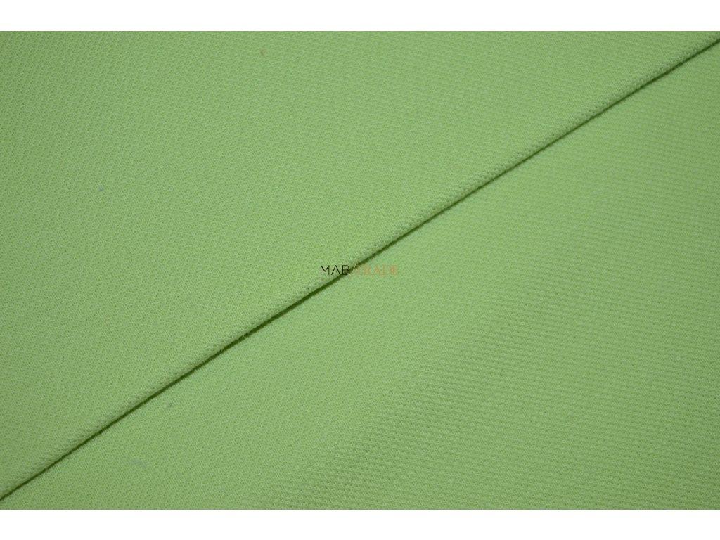 Bavlněný úplet - Piké 100% Ba světle Zelená Kód 5200-1302