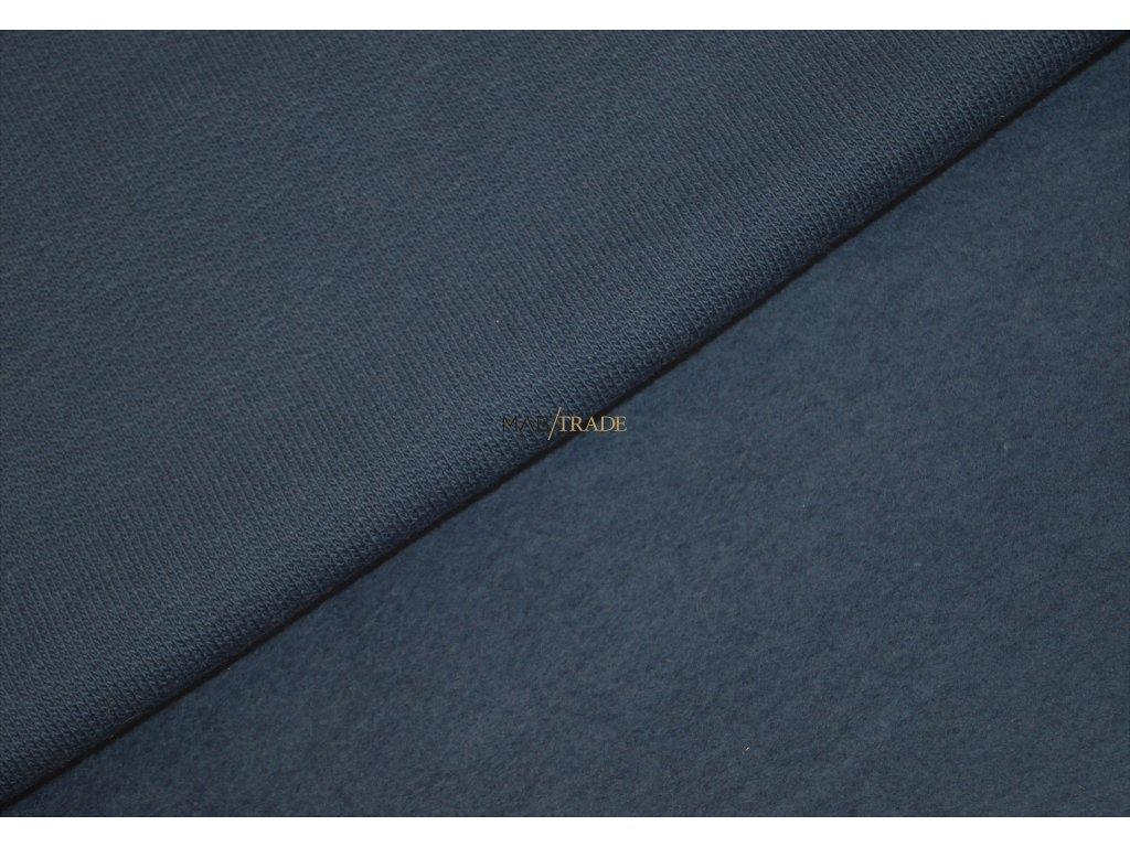 Jemně elastická teplákovina  100% Ba počesaná Denim Kód 4223-2001