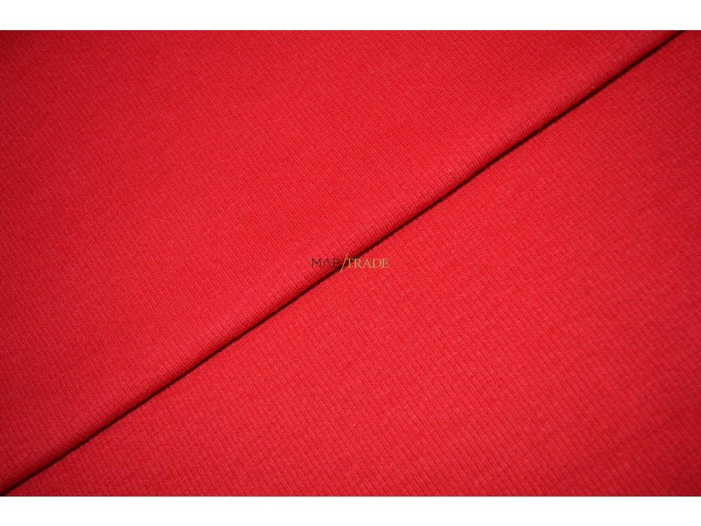 Bavlněný úplet - RIB 2x1 slabý Červený Kód 6211-1101