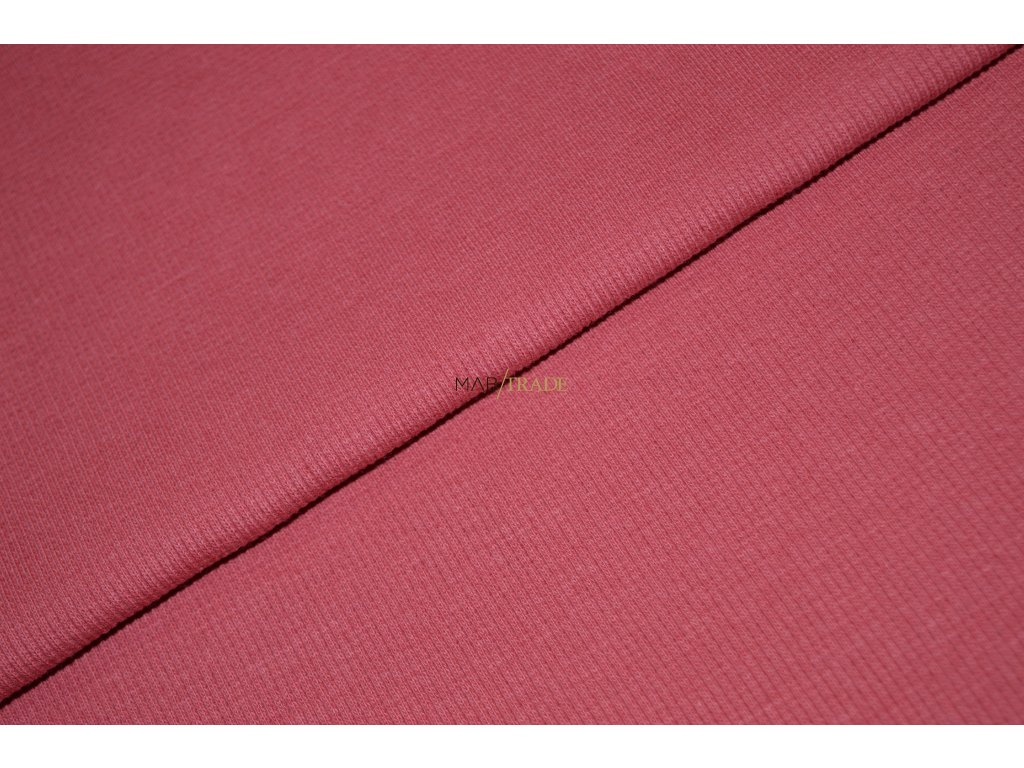 Bavlněný úplet - RIB 2x1 slabý tm. Růžový Kód 6211-08102