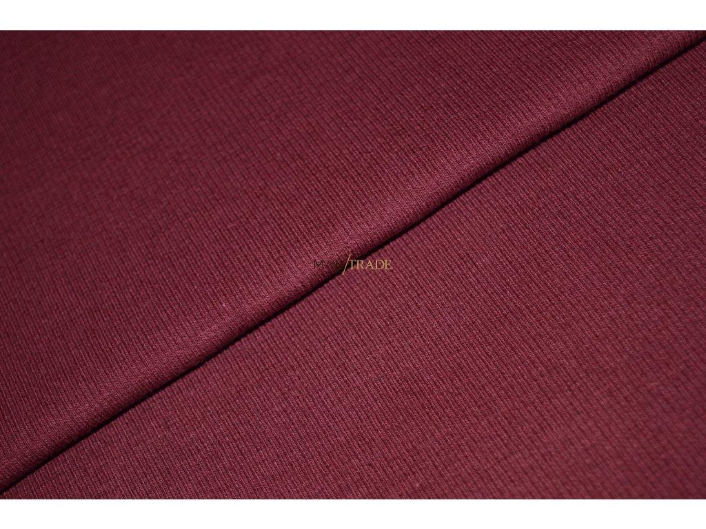 Bavlněný úplet - RIB 2x1 slabý Bordó Kód 6211-1201