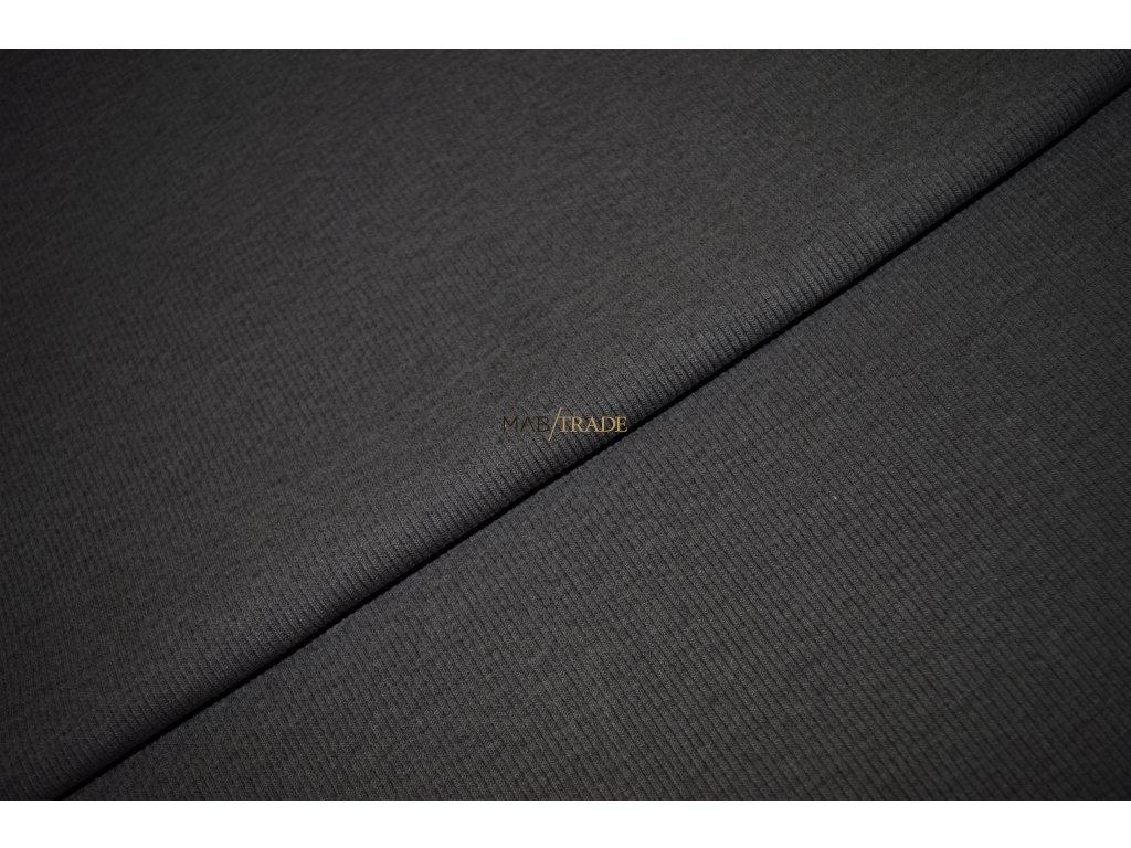 Bavlněný úplet - RIB 2x1 hrubý Hnědý Kód 6222-2305