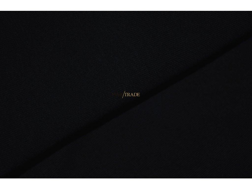 Bavlněný úplet - elastický jednolícní HEAVY Černá - Kód 2908-4002