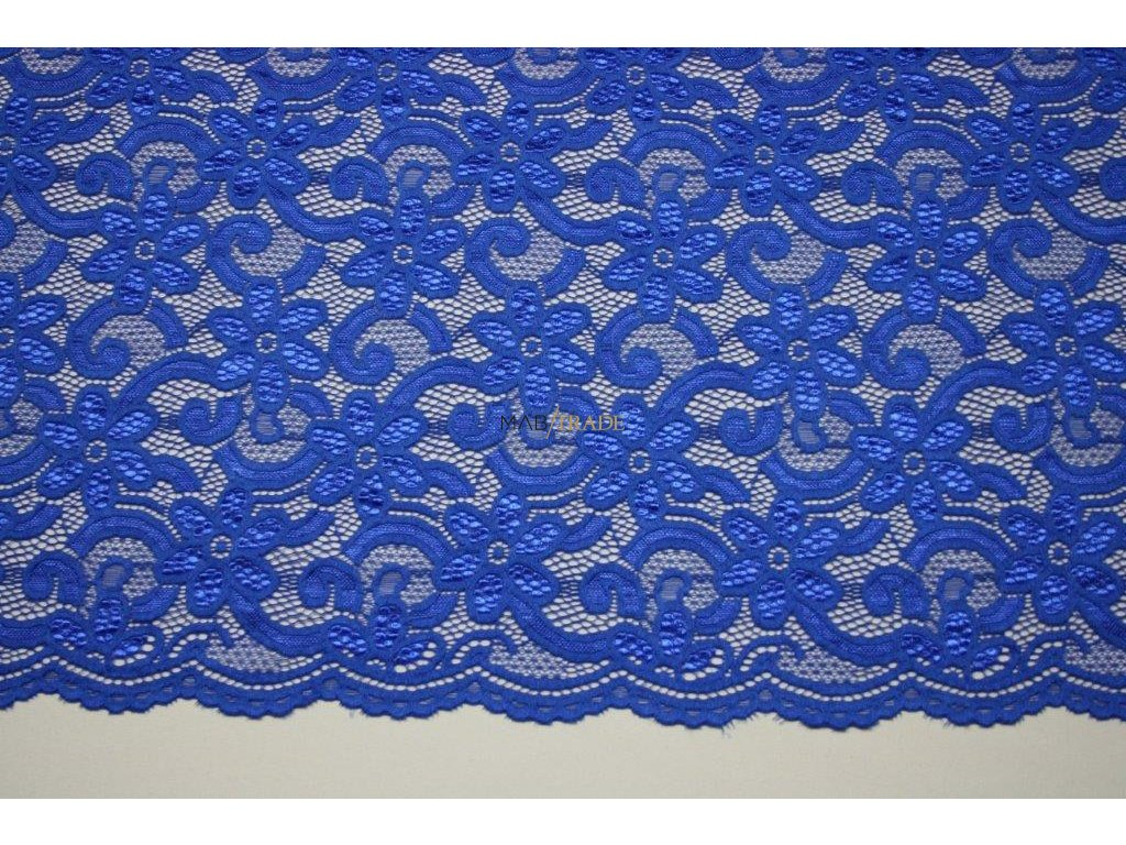 KR 17178 elast.krajka královská modrá š150cm,150g m2,24%VS,72%Pes,4%Spand