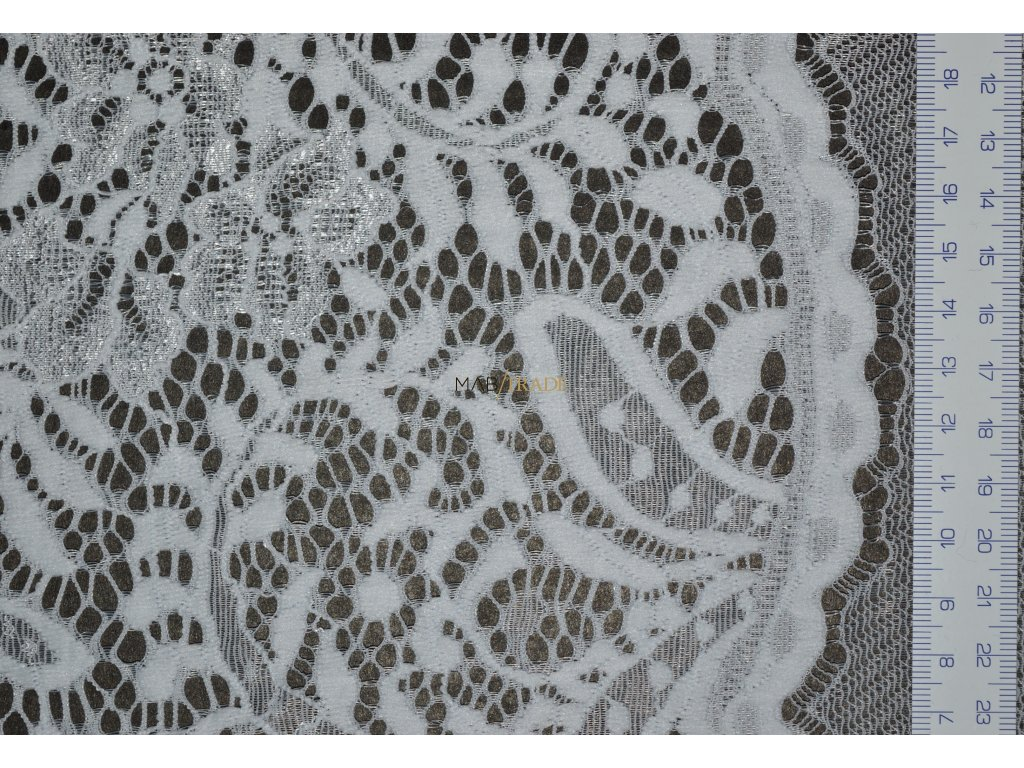 Krajky elastické - Bílá - KR-00168