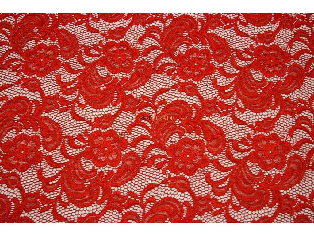 KR 17173 des.B elast. krajka červená š.150cm,150g m2,24%VS,70%Pes,6%Spand