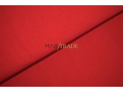 Bavlněný úplet - elastický jednolícní Modal Červená Kód 2500-111636