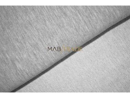 Elastická teplákovina s polyesterem Světle šedý melír Kód 4276-5002