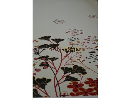 DIGI TISK Bordura Květy na krémovém podkladu Kód-9113-1006