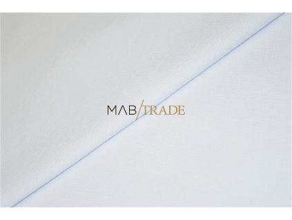 Bavlněný úplet - RIB 1x1 Modal Bílý Kód 6502-0101