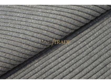 Bavlněný úplet - hrubý s Lurexem sv. šedý 3x3 95%Ba 5%El Kód 6229-5004