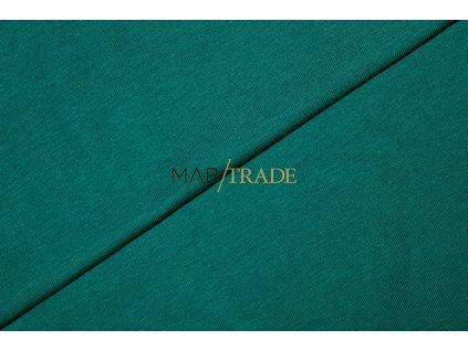 Bavlněný úplet - RIB 1x1 100% Ba lahvově Zelená Kód 6300-22139
