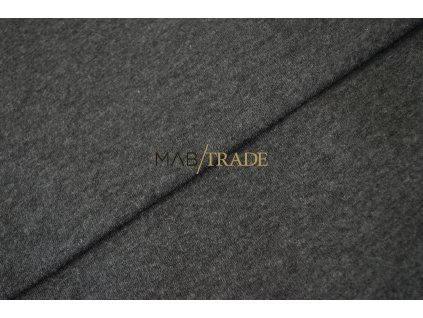 Bavlněný úplet - RIB 1x1 100% Ba tm. Šedý melír  Kód 6300-5201