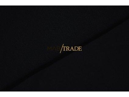 Bavlněný úplet - RIB 1x1 100% Ba Černá Kód 6300-4002