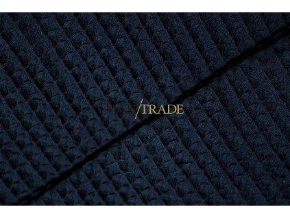 WAFLE - tkanina 100% Ba tmavě Modrá Kód 7410-2004