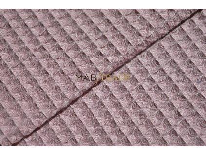 WAFLE - tkanina 100% Ba Starorůžová Kód 7410-1607