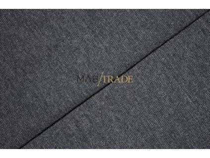 Rib 1x1 hladký s melírem Šedo fial.  Kód 6201-5109