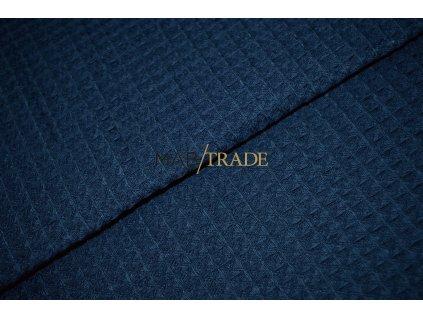 WAFLE - tkanina 100% Ba Modrá Kód 7410-2003
