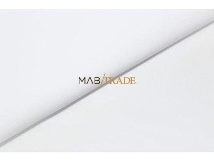 Bavlněný úplet - elastický jednolícní  50/50 Ba/Pes Bílá Kód 2870-0101