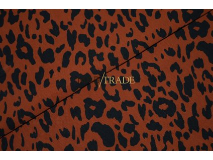 Úplet elastický jednolíc tisk Gepard na Skořicovém podkladu Kód 2902-8345