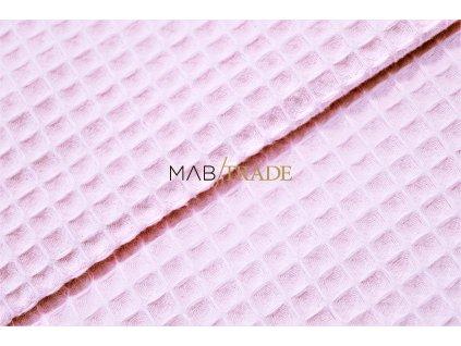 WAFLE - tkanina 100% Ba tm. Růžová Kód 7410-0903