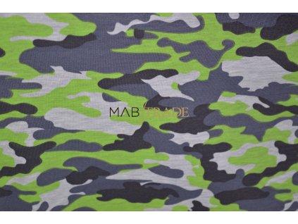 Teplákovina el. Tisk Army neon Zelená Kód 4842-2053