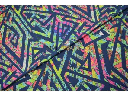 Jednolícní úplet Pes/El Neonový  Digi tisk Kód 5902-1003