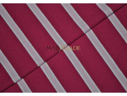 Bavlněný úplet - RIB 2x1- Růžový pruh Kód 6212-0203