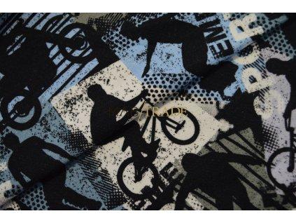 Elastická teplákovina Digi tisk Sport BMX Kód 4842-1034
