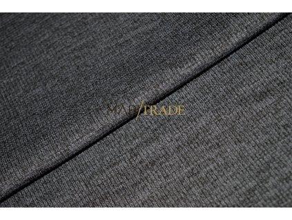 Bavlněný úplet - RIB 2x1 slabý tm. Šedý melír Kód 6211-5107