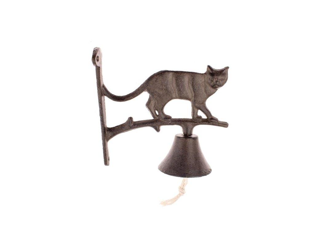 zvonek litinový kočka s kočkou kočičí