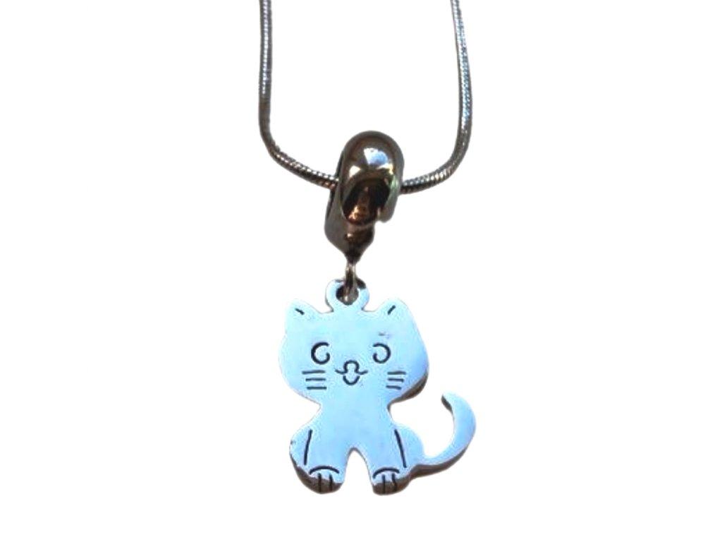 náhrdelník kočka s kočkou kočičí kotě s kočkami chirurgická ocel