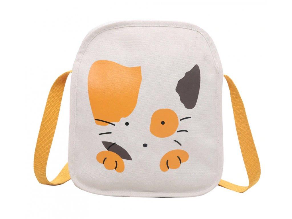 kabelka strakatá žlutá kočka