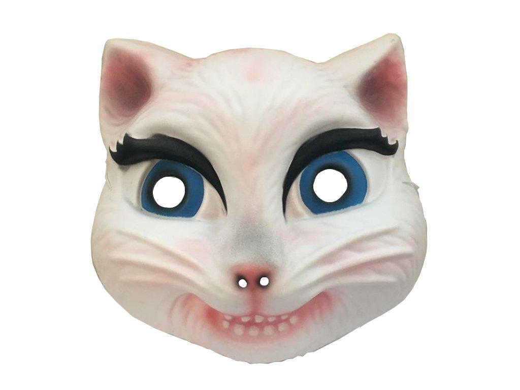 maska kočka kočičí karneval maškarní bílá kočička