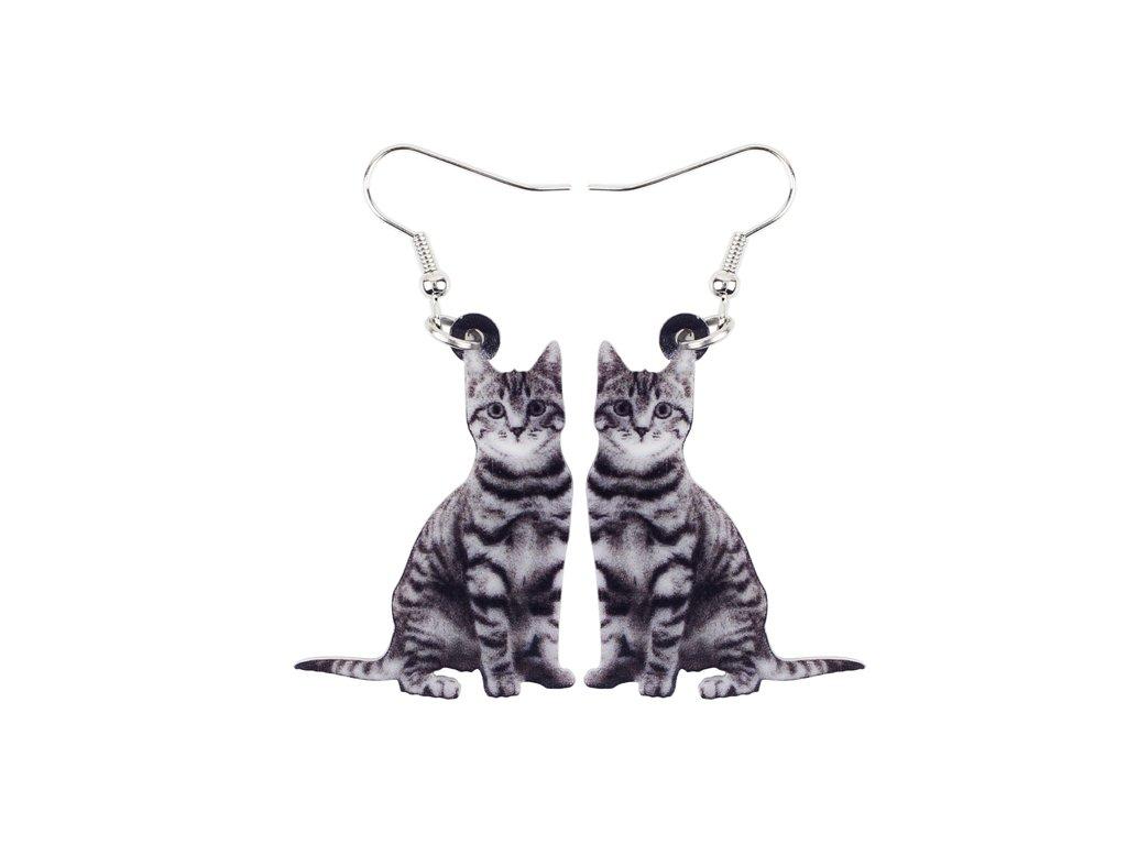 Náušnice mourovatá kočka III