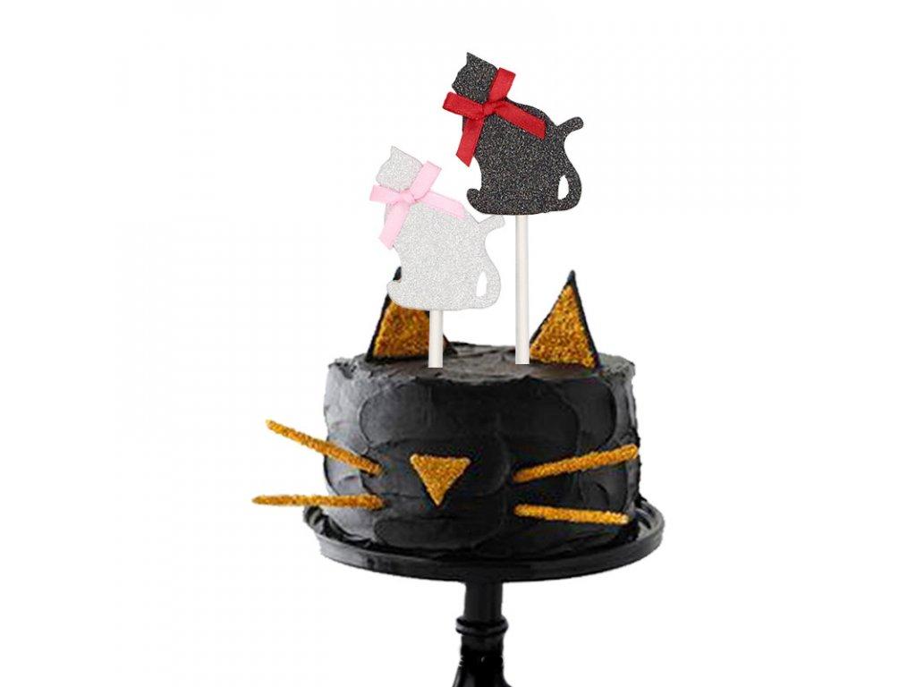 Ozdobná kočka na dort