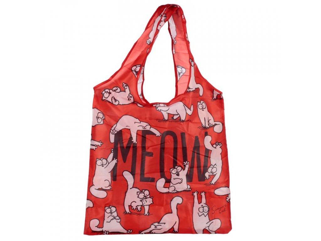 taška nákupní skládací Simons Cat MEOW