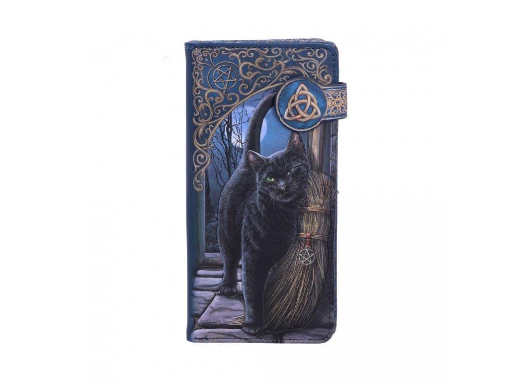 peněženka kočka s kočkou kočičí koště čarodějnice lisa parker
