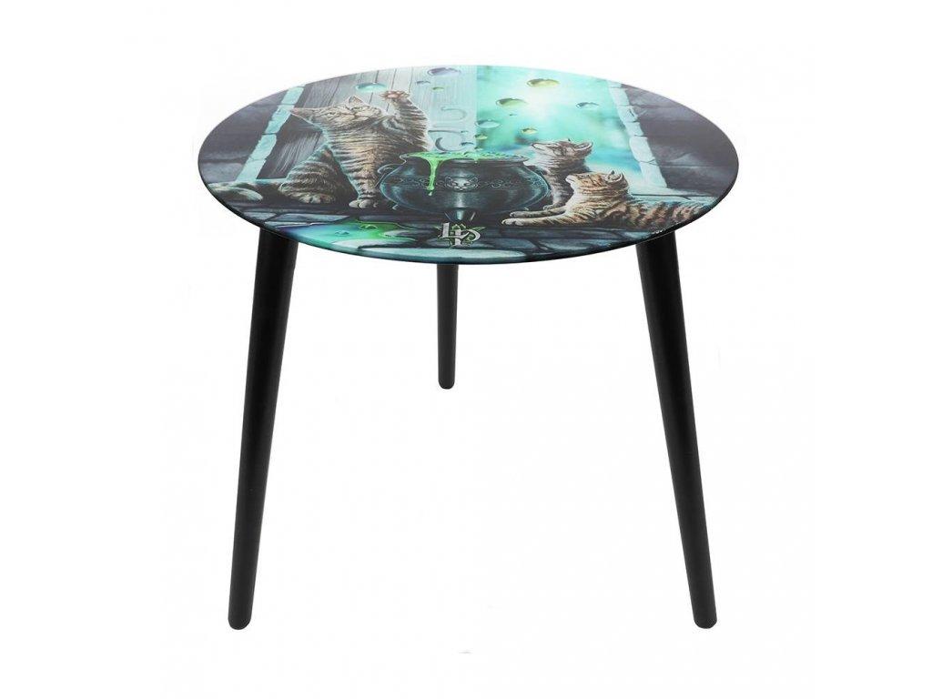 odkládací stolek s kočkami a bublinami kočkou kočičí lisa parker