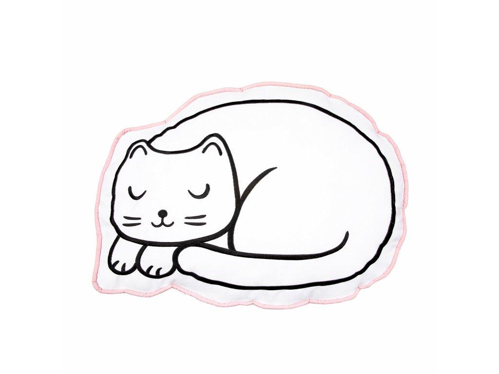polštář spící kočka s kočkou kočičí