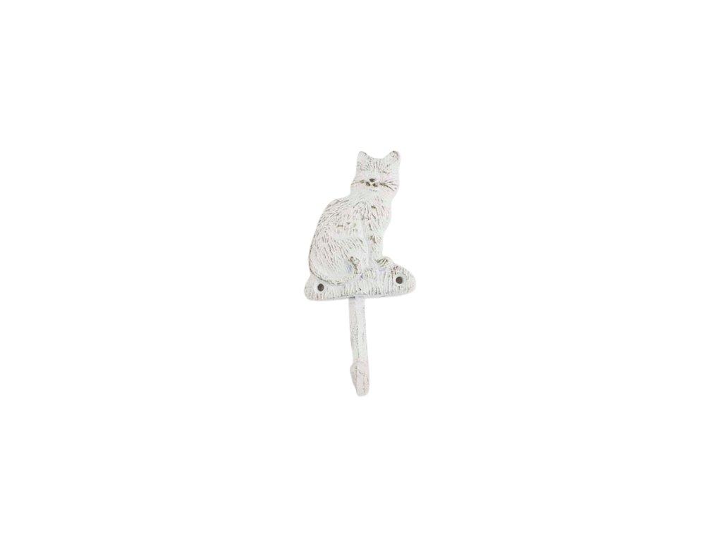 litinový háček kočka s kočkou kočičí bílý