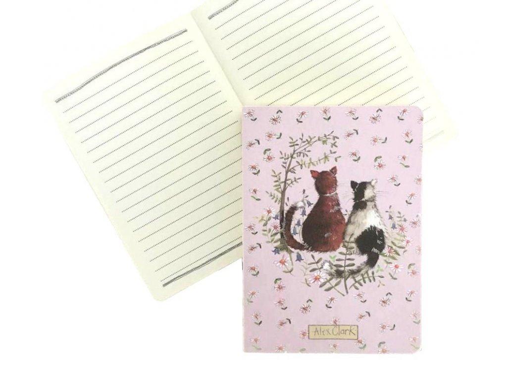 diář notes blok kočka s kočkou kočičí 4 2
